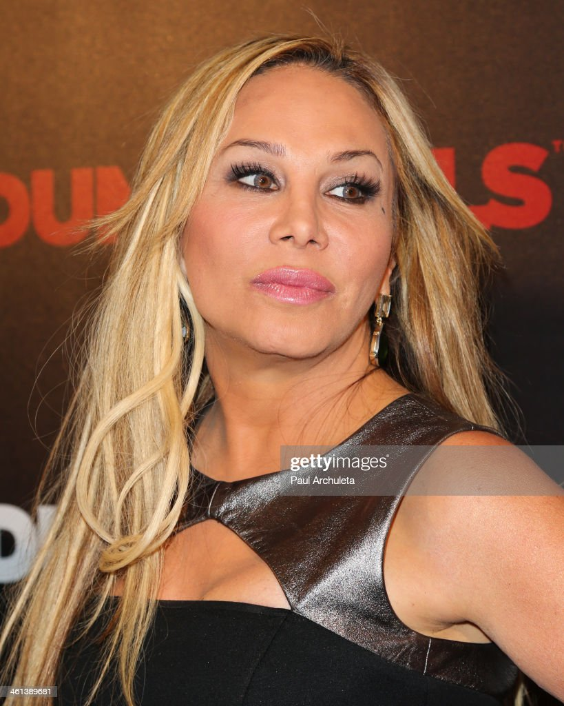 Reality TV Personality Adrienne Maloof attends the 'Dumbells' premiere at SupperClub Los Angeles on January 7, 2014 in Los Angeles, California.
