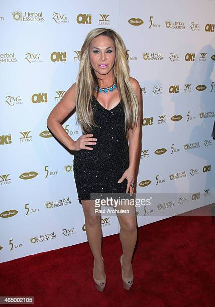 Reality TV Personality Adrienne Maloof attends the OK Magazine preGrammy party at Lure Nightclub on January 24 2014 in Hollywood California