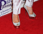 Reality TV Personality Adrienne Maloof Shoe Detail attends the Mi Amor Gala and Safe Passage Unite Leaders In The Beverly Hills Community at Nics...