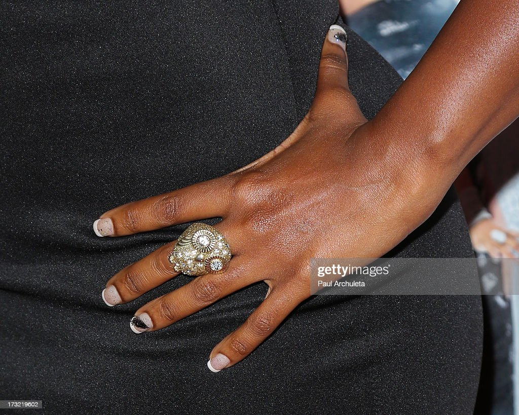 Reality TV Personality (Finger Nail Detail / Jewelry Detail) attends TV One's new series 'R&B Divas LA' launch party at The London Hotel on July 9, 2013 in West Hollywood, California.