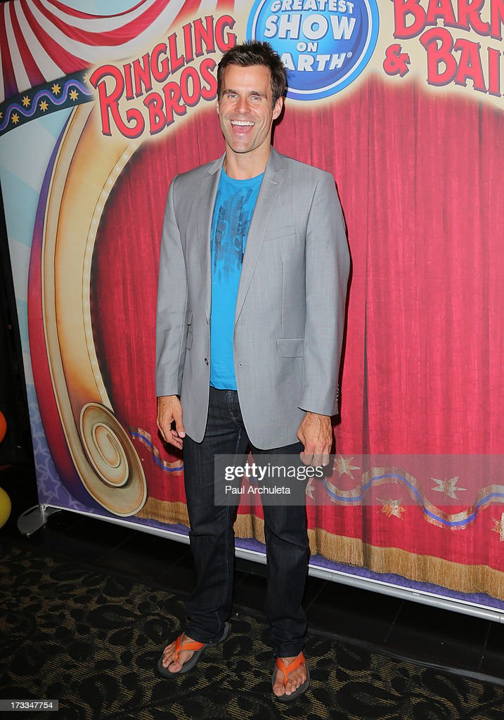 Reality TV Personality <a gi-track='captionPersonalityLinkClicked' href=/galleries/search?phrase=Cameron+Mathison&family=editorial&specificpeople=663622 ng-click='$event.stopPropagation()'>Cameron Mathison</a> attends the premiere of Ringling Bros. And Barnum & Bailey's 'Built To Amaze!' at the Staples Center on July 11, 2013 in Los Angeles, California.