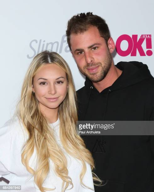 Reality TV Personality Corinne Olympios and Jordan Gielchinsky attend OK Magazine's Summer kickoff party at The W Hollywood on May 17 2017 in...