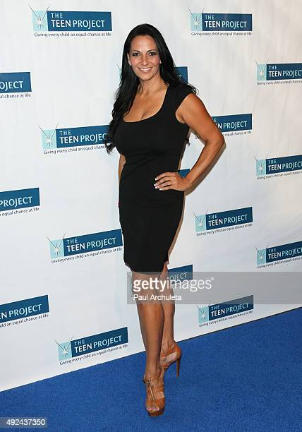 Reality TV Personality Cristina Coria attends The Teen Project's Hollywood red carpet event at The TCL Chinese 6 Theatres on October 12 2015 in...