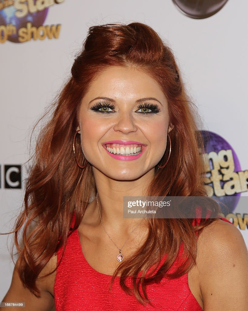 Reality TV Personality / Dancer Anna Trebunskaya attends the 'Dancing With The Stars' 300th episode after party on May 14, 2013 in Los Angeles, California.