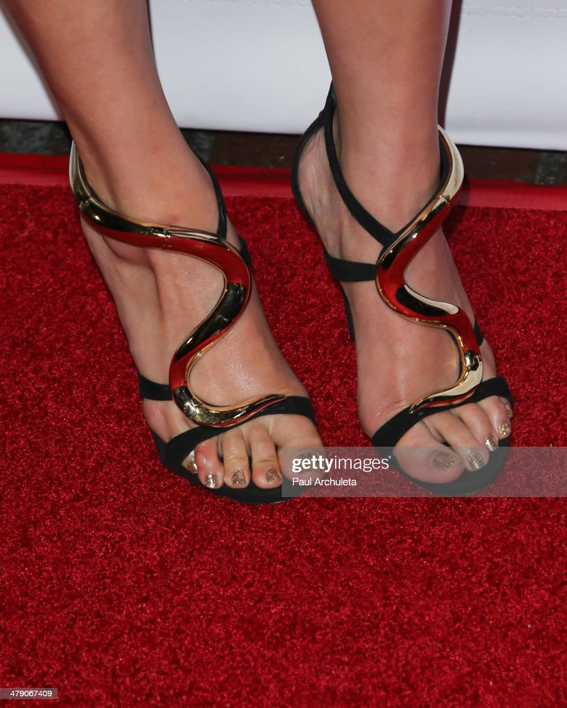 Reality TV Personality Dorothy Wang (Shoe Detail) attends the Dream Builders project's 'A Brighter Future For Children' benefit at H.O.M.E. on March 15, 2014 in Beverly Hills, California.