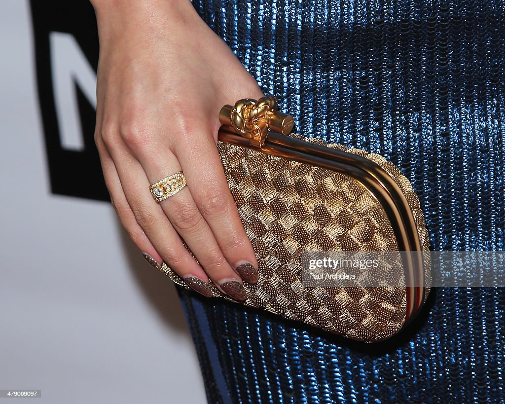 Reality TV Personality Dorothy Wang (Handbag Detail) attends the Dream Builders project's 'A Brighter Future For Children' benefit at H.O.M.E. on March 15, 2014 in Beverly Hills, California.