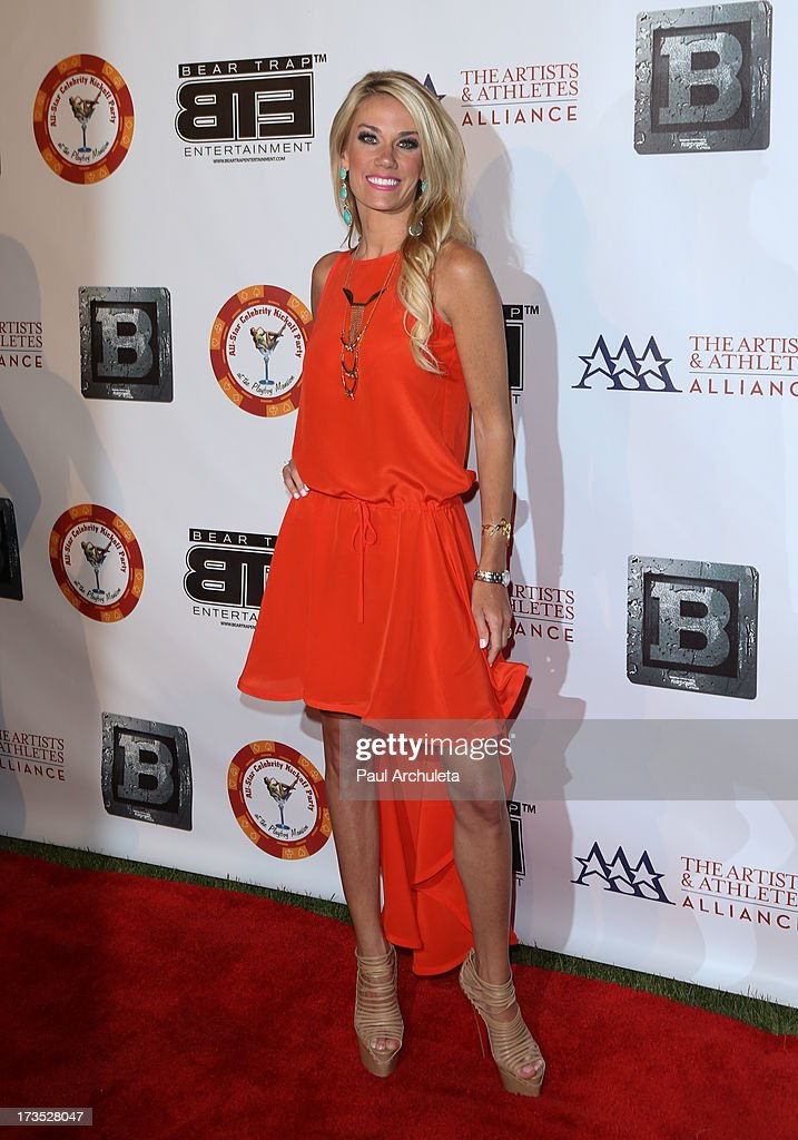 Reality TV Personality Emily Dees Boulden attends the 8th annual BTE All-Star Celebrity Kickoff Party at The Playboy Mansion on July 15, 2013 in Beverly Hills, California.