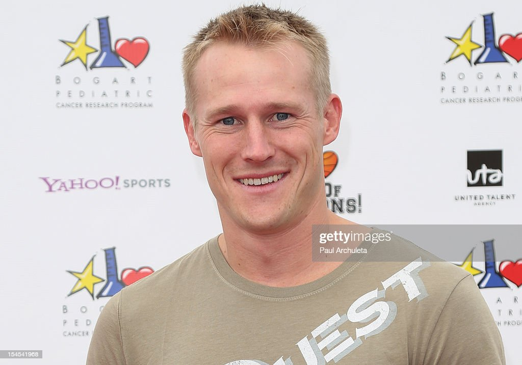 Reality TV Personality Evan Dollard attends 'A Day Of Champions' benefiting the Bogart Pediatric Cancer Research Program at the Sports Museum of Los Angeles on October 21, 2012 in Los Angeles, California.