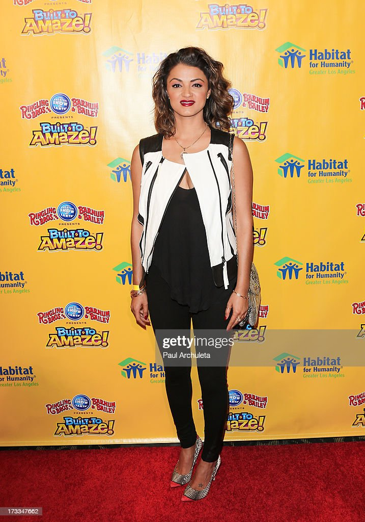Reality TV Personality Golnesa 'GG' Gharachedaghi attends the premiere of Ringling Bros. And Barnum & Bailey's 'Built To Amaze!' at the Staples Center on July 11, 2013 in Los Angeles, California.