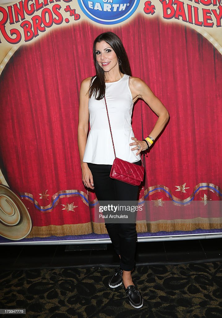 Reality TV Personality Heather Dubrow attends the premiere of Ringling Bros. And Barnum & Bailey's 'Built To Amaze!' at the Staples Center on July 11, 2013 in Los Angeles, California.