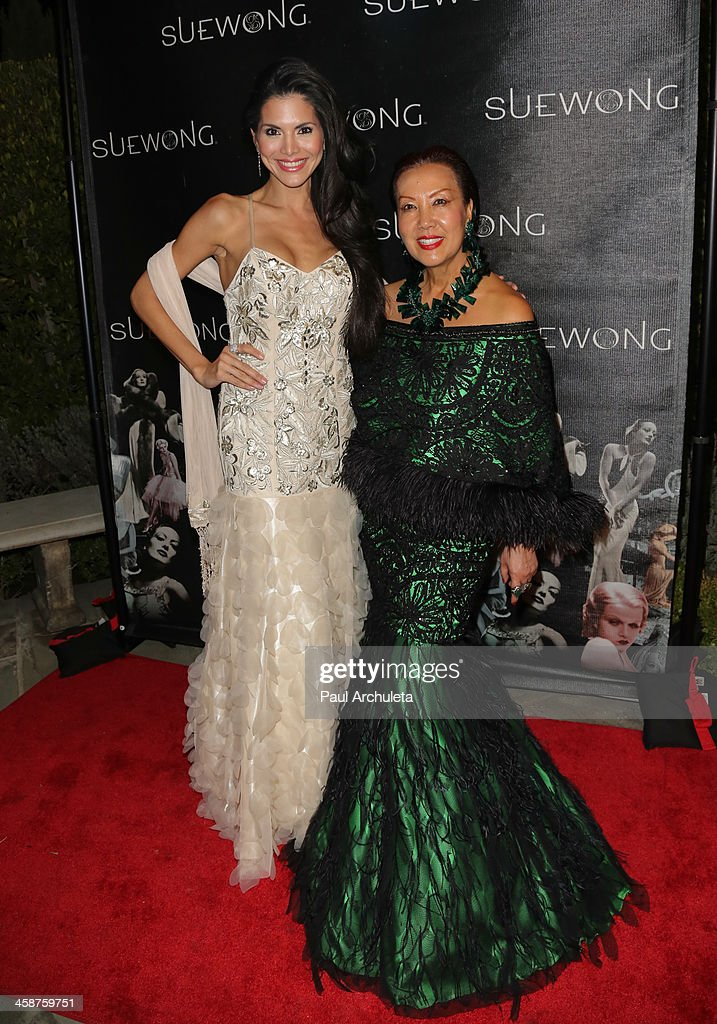 Reality TV Personality Joyce Giraud (L) and Fashion Designer Sue Wong (R) attend Sue Wong's holiday party on December 20, 2013 in Los Angeles, California.