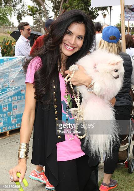 Reality TV Personality Joyce Giraud attends the stop YulinForever march to end dog cruelty In Yulin China at MaCarthur Park Recreation Center on...