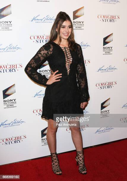Reality TV Personality Kalani Hilliker attends the premiere of 'A Cowgirl's Story' at Pacific Theatres at The Grove on April 13 2017 in Los Angeles...