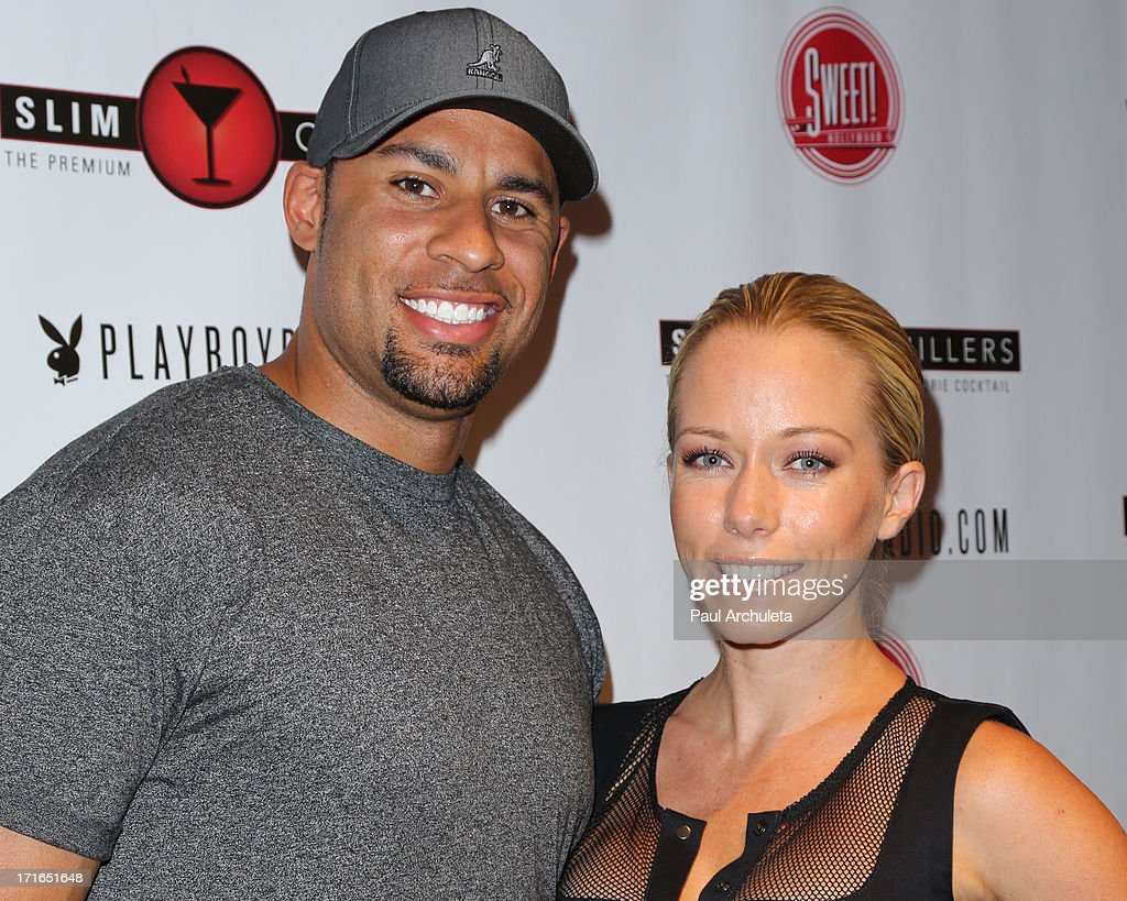 Reality TV Personality <a gi-track='captionPersonalityLinkClicked' href=/galleries/search?phrase=Kendra+Wilkinson&family=editorial&specificpeople=539064 ng-click='$event.stopPropagation()'>Kendra Wilkinson</a> (R) and her husband former NFL Player <a gi-track='captionPersonalityLinkClicked' href=/galleries/search?phrase=Hank+Baskett&family=editorial&specificpeople=749185 ng-click='$event.stopPropagation()'>Hank Baskett</a> (L) attend the Birthday Party for Playboy Radio and TV Personality Jessica Hall at Sweet Candy store on June 26, 2013 in Hollywood, California.