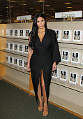 Reality TV Personality Kim Kardashian West signs copies of her new book 'Selfish' at Barnes Noble bookstore at The Grove on May 7 2015 in Los Angeles...