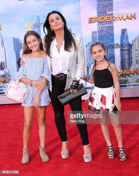 Reality TV personality Kyle Richards and guests attend the World Premiere of Columbia Pictures' 'SpiderMan Homecoming' at TCL Chinese Theatre on June...