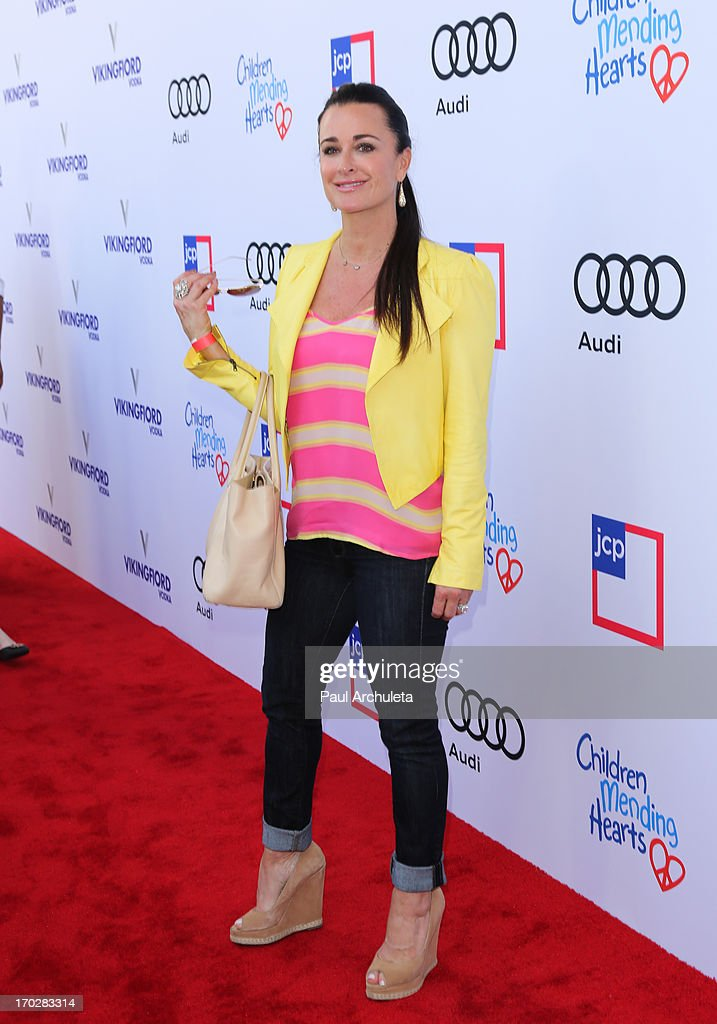 Reality TV Personality Kyle Richards attends the 1st annual Children Mending Hearts Style Sunday on June 9, 2013 in Beverly Hills, California.