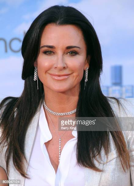 Reality TV personality Kyle Richards attends the World Premiere of Columbia Pictures' 'SpiderMan Homecoming' at TCL Chinese Theatre on June 28 2017...
