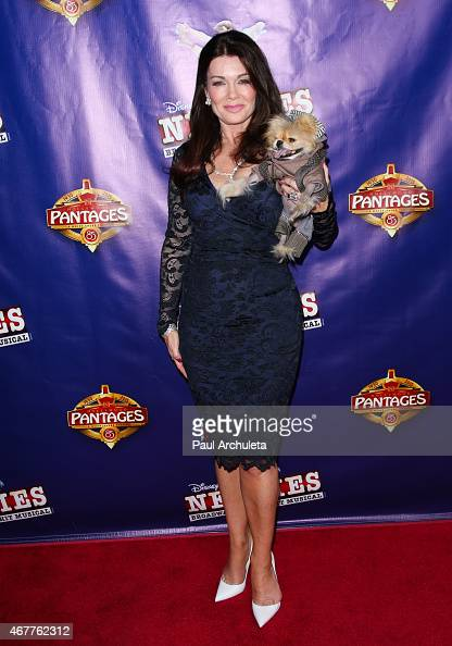 Reality TV Personality Lisa Vanderpump attends 'Newsies' opening night at the Pantages Theatre on March 26 2015 in Hollywood California
