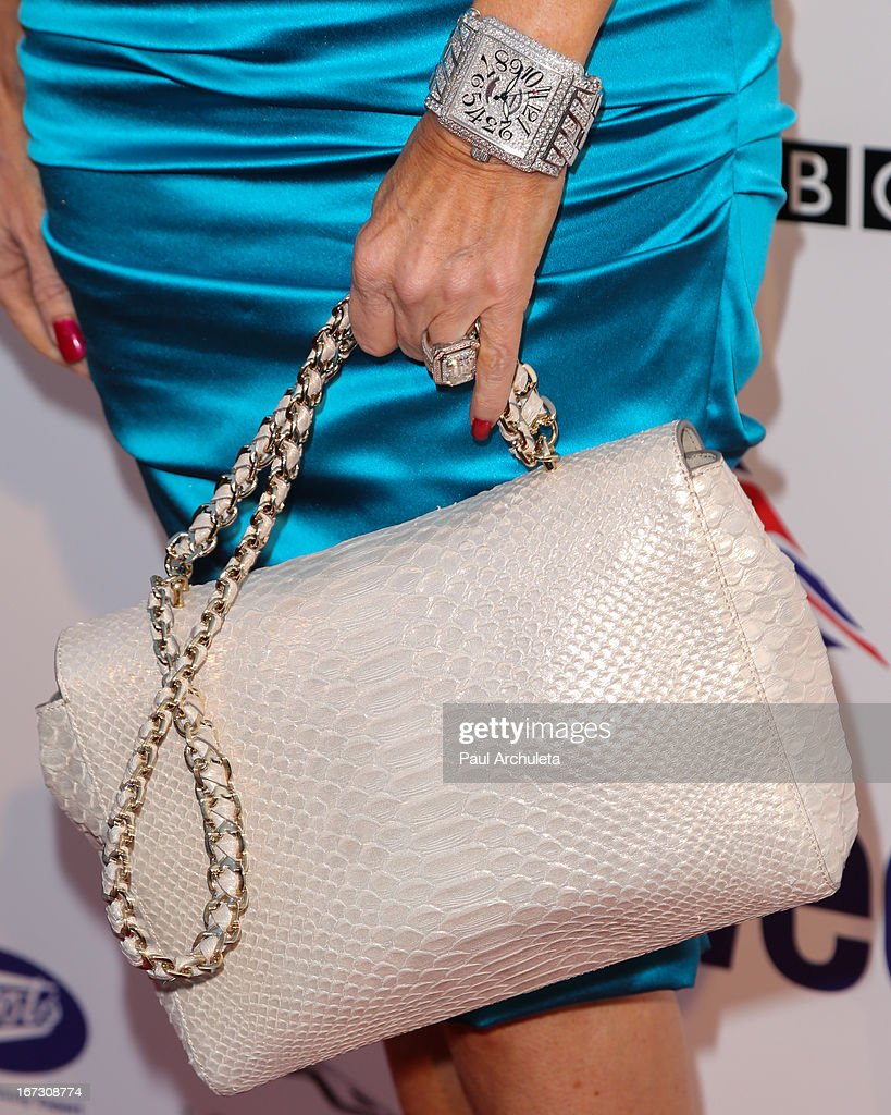 Reality TV Personality Lisa Vanderpump (Handbag Detail / Jewelry Detail) attends the 7th annual BritWeek Festival 'A Salute To Old Hollywood' launch party at the British Consul General's Residence on April 23, 2013 in Los Angeles, California.