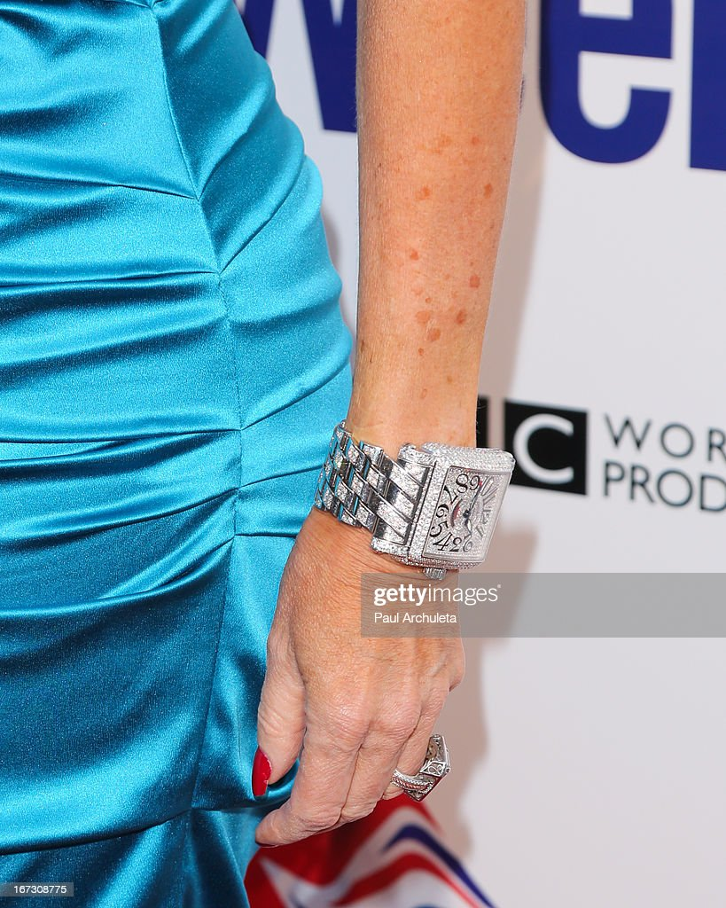 Reality TV Personality Lisa Vanderpump (jewelry detail) attends the 7th annual BritWeek Festival 'A Salute To Old Hollywood' launch party at the British Consul General's Residence on April 23, 2013 in Los Angeles, California.