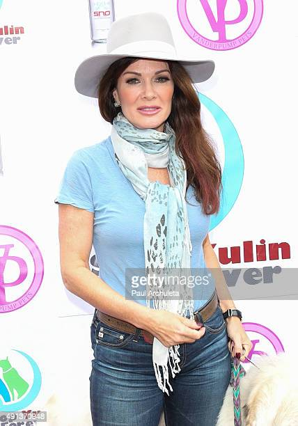 Reality TV Personality Lisa Vanderpump attends the stop YulinForever march to end dog cruelty In Yulin China at MaCarthur Park Recreation Center on...