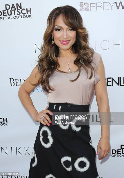 Reality TV Personality Mayte Garcia attends the Genlux Magazine summer issue release party at the Luxe Rodeo Drive Hotel on June 28 2013 in Beverly...
