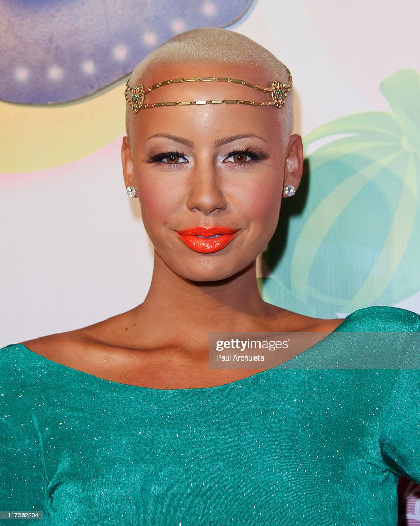 Reality TV Personality / Model Amber Rose arrives at the 6th annual Kandyland event at the Playboy Mansion at The Playboy Mansion on June 25, 2011 in Beverly Hills, California.