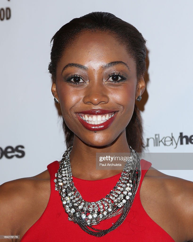 Reality TV Personality / Model Brittney 'ShaRaun' Brown attends the 'Love Is Heroic' - The Unlikely Heroes annual spring benefit at the W Hollywood on March 21, 2013 in Hollywood, California.