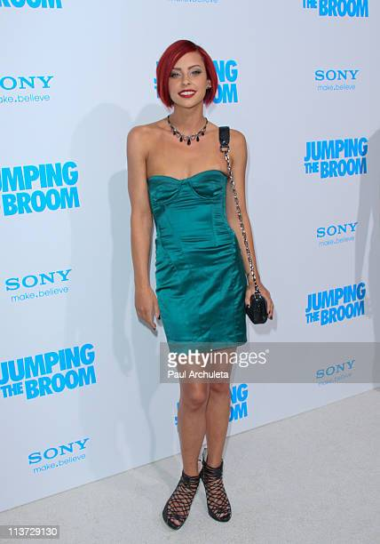 Reality TV Personality / Model Courtney Davis arrives at the 'Jumping The Broom' Los Angeles premiere at ArcLight Cinemas Cinerama Dome on May 4 2011...