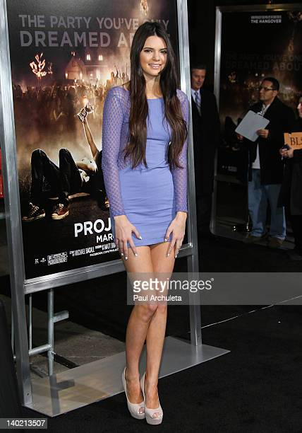 Reality TV Personality / Model Kendall Jenner attends the 'Project X' Los Angeles premiere at the Grauman's Chinese Theatre on February 29 2012 in...