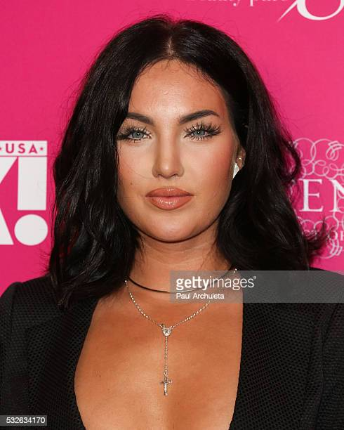 Reality TV Personality Natalie Halcro attends OK Magazine's So Sexy LA party at SkyBar at the Mondrian Los Angeles on May 18 2016 in West Hollywood...