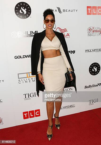 Reality TV Personality Nicole Murphy attends the preview event of TLC Network's 'Global Beauty Masters' season 2 at Christopher Guy West Hollywood...