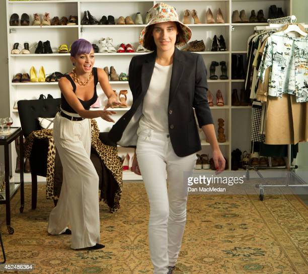 Reality TV personality Nicole Richie is photographed for USA Today on June 18 2014 on the set of 'Candidly Nicole' at the offices if Who What Wear in...