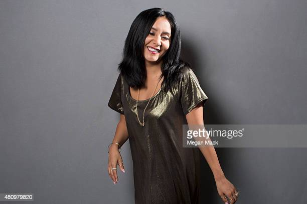 Reality TV personality Nicole 'Snooki' Polizzi poses for a portrait at the Logo TV's 'Trailblazers' at the Cathedral of St John the Divine on June 25...