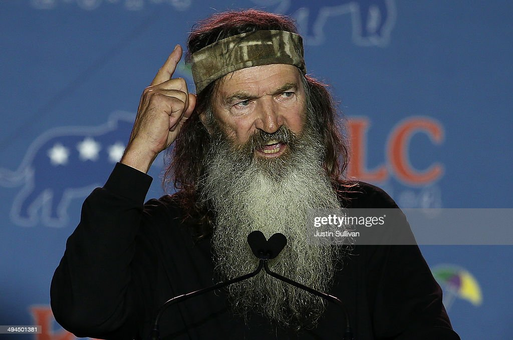 Reality TV personality <a gi-track='captionPersonalityLinkClicked' href=/galleries/search?phrase=Phil+Robertson&family=editorial&specificpeople=4043277 ng-click='$event.stopPropagation()'>Phil Robertson</a> speaks during the 2014 Republican Leadership Conference on May 29, 2014 in New Orleans, Louisiana. Members of the Republican Party are scheduled to speak at the 2014 Republican Leadership Conference, which hosts 1,500 delegates from across the country through May 31st.