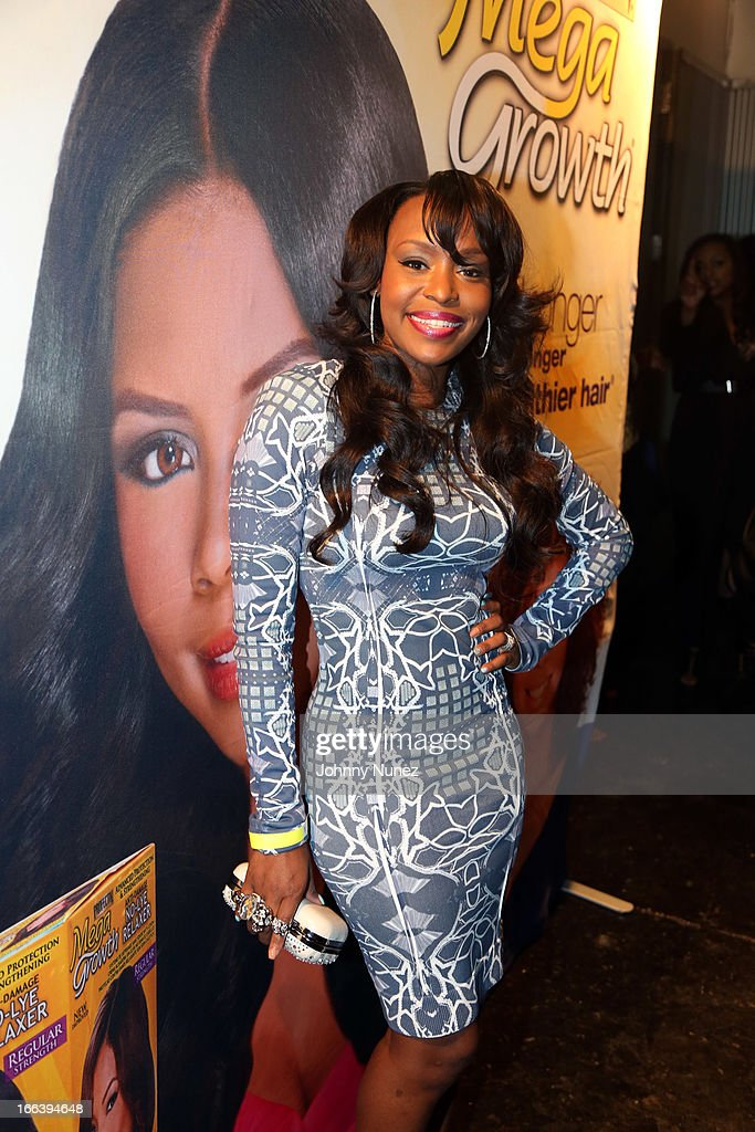 Reality TV personality Quad Webb-Lunceford attends the relaunch of MegaGrowth at 'The Mane Event' at King Plow Arts Center on April 11, 2013, in Atlanta, Georgia.