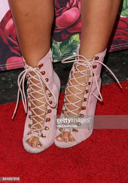 Reality TV Personality Scheana Marie Shoe Detail attends the PrettyLittleThing X launch at Liaison Lounge on August 17 2017 in Los Angeles California