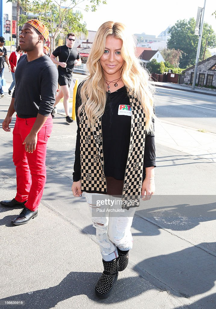 Reality TV Personality / Singer Aubrey O'Day attends PATH's 4th Annual Thanksgiving Meal at Pink Taco on November 22, 2012 in Los Angeles, California.