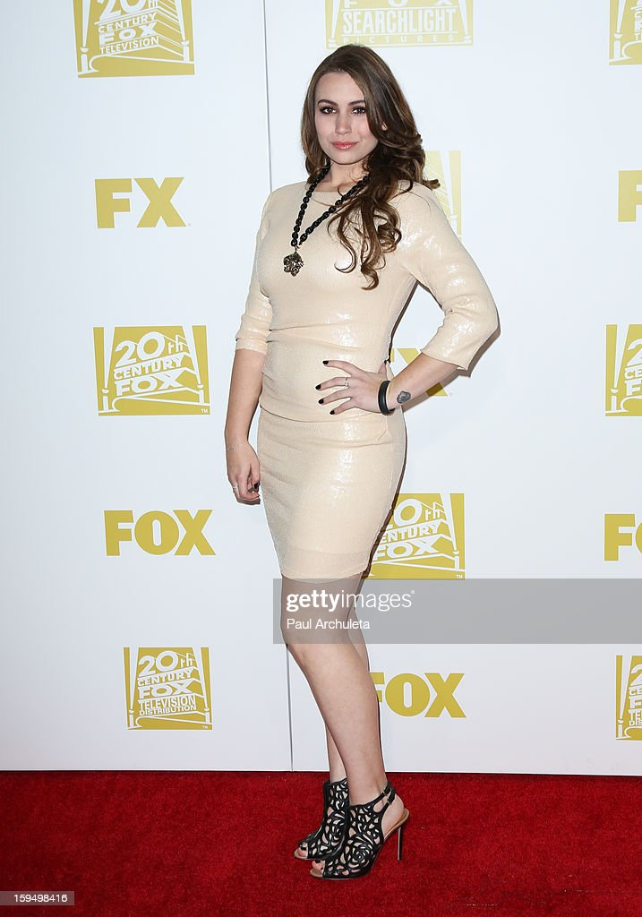 Reality TV Personality Sophie Simmons attends the FOX after party for the 70th Golden Globes award show at The Beverly Hilton Hotel on January 13, 2013 in Beverly Hills, California.