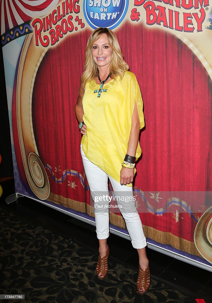 Reality TV Personality Taylor Armstrong attends the premiere of Ringling Bros. And Barnum & Bailey's 'Built To Amaze!' at the Staples Center on July 11, 2013 in Los Angeles, California.