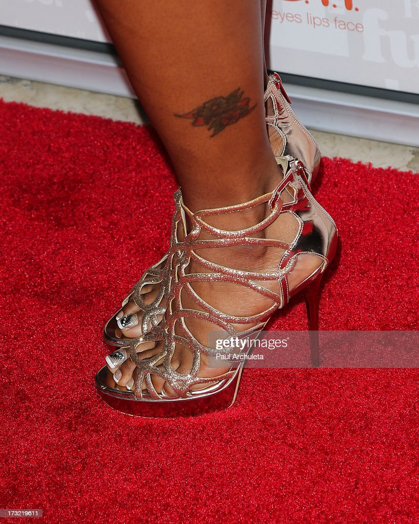 Reality TV Personality Torrei Hart (Shoe Detail) attends TV One's new series 'R&B Divas LA' launch party at The London Hotel on July 9, 2013 in West Hollywood, California.