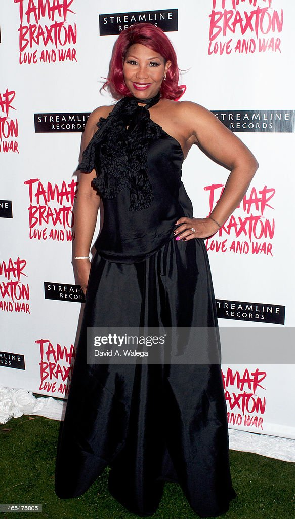 Reality TV personality Traci Braxton arrives at Xen Lounge for a Night To Celebrate <a gi-track='captionPersonalityLinkClicked' href=/galleries/search?phrase=Tamar+Braxton&family=editorial&specificpeople=2079619 ng-click='$event.stopPropagation()'>Tamar Braxton</a>'s GRAMMY Nominations on January 26, 2014 in Los Angeles, California.