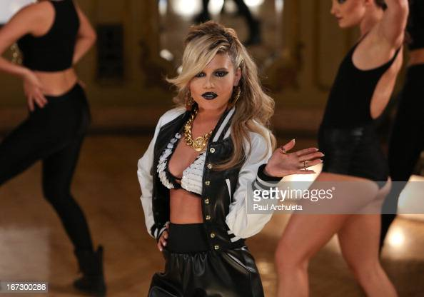 Reality TV personality/recording artist Chanel West Coast shoots the music video for her new single 'Karl Lagerfeld' on April 23 2013 in Los Angeles...