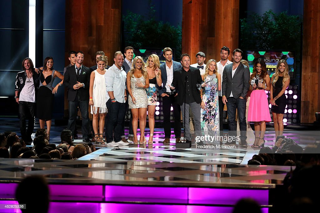 Reality TV Show Host <a gi-track='captionPersonalityLinkClicked' href=/galleries/search?phrase=Chris+Harrison&family=editorial&specificpeople=583468 ng-click='$event.stopPropagation()'>Chris Harrison</a> and the casts of 'The Bachelor' and 'The Bachelorette' receiving The Rality Royalty Award at the 2014 Young Hollywood Awards brought to you by Samsung Galaxy at The Wiltern on July 27, 2014 in Los Angeles, California. The Young Hollywood Awards will air on Monday, July 28 8/7c on The CW.