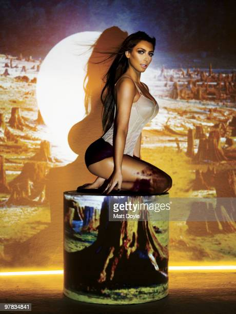 Reality TV show star Kim Kardashian poses at a portrait session for Complex in Los Angeles CA on April 1 2009