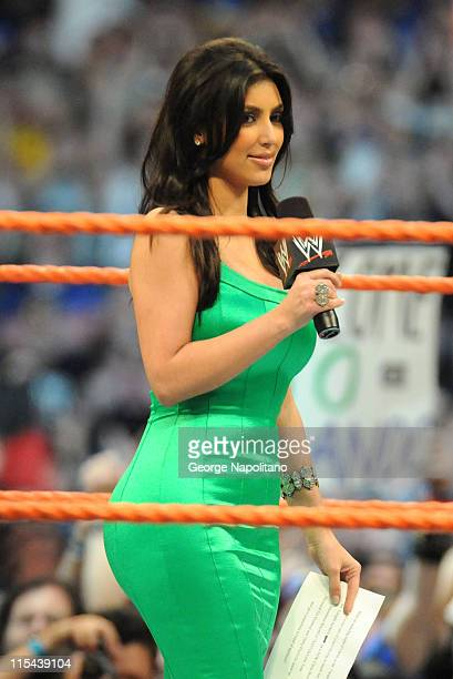 Reality TV star and former Playboy Bunny Kim Kardashian was among the many celebrities who took part in Wrestlemania XXIV at the Citrus Bowl on March...