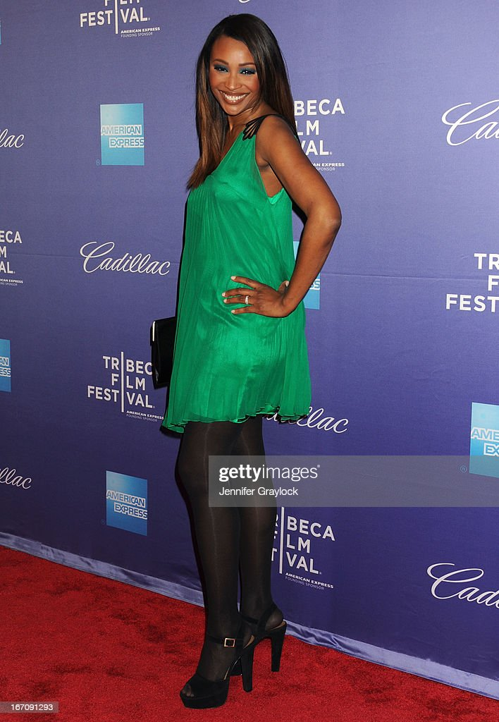 Reality TV star and model Cynthia Bailey attends the 'In God We Trust' World Premiere - 2013 Tribeca Film Festival held at the SVA Theater on April 19, 2013 in New York City.