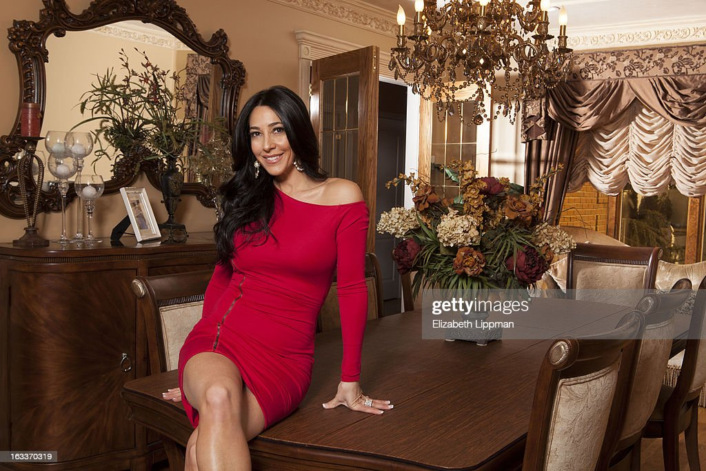 Reality TV star Carla Facciolo is photographed for New York Post on January 24, 2013 at home in Staten Island, New York. PUBLISHED