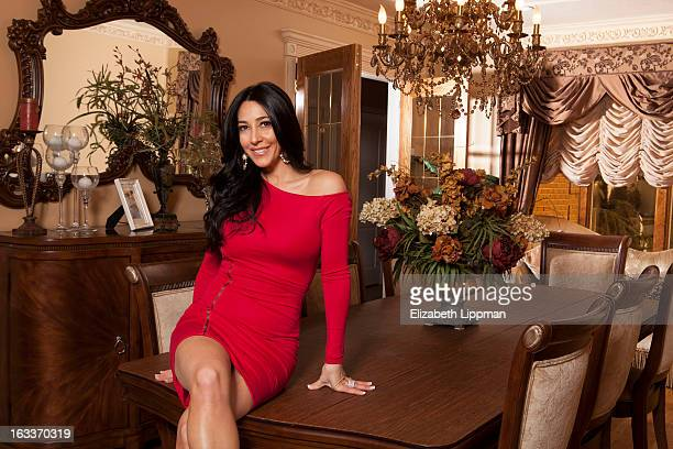 Reality TV star Carla Facciolo is photographed for New York Post on January 24 2013 at home in Staten Island New York PUBLISHED IMAGE